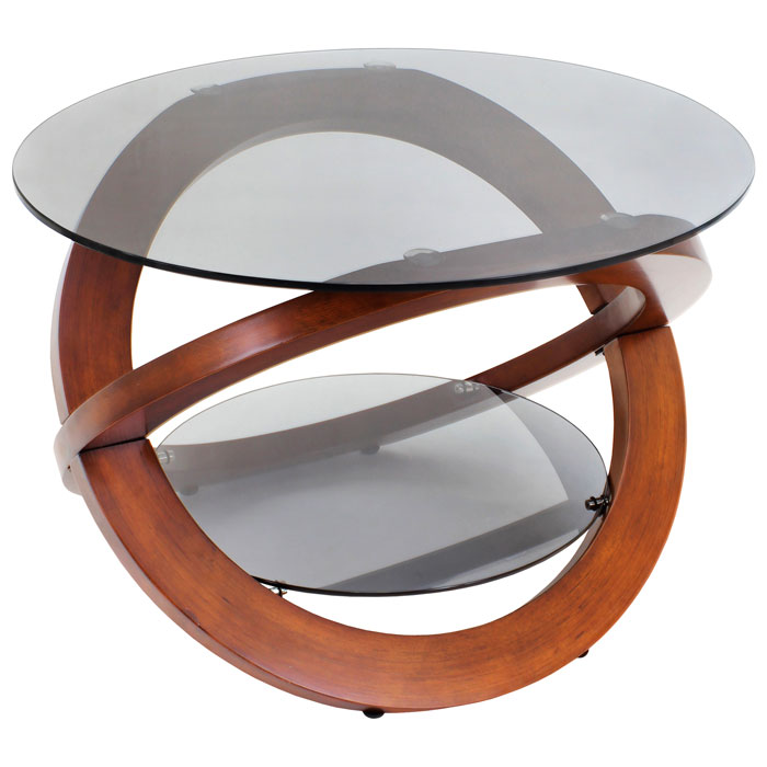 Linx Wood and Glass Coffee Table - LMS-TB-SW-LINX