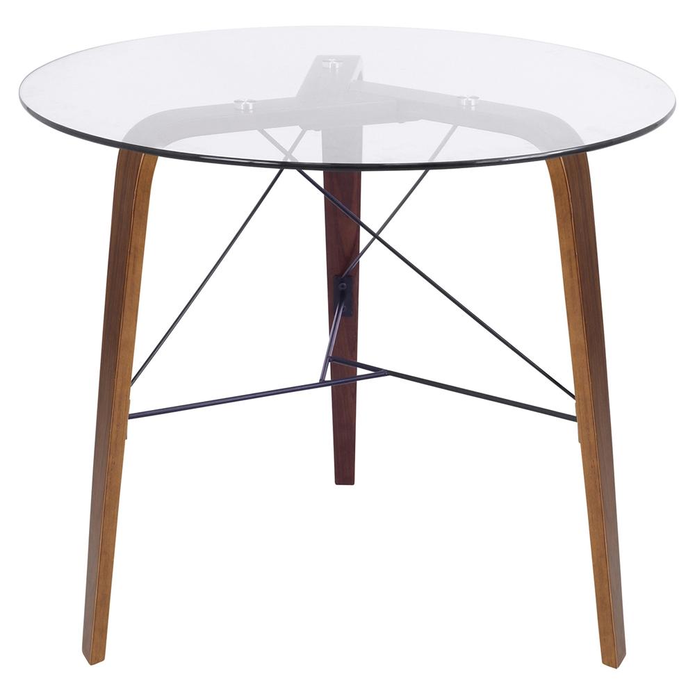 Trilogy Round Dining Table Walnut Frame Clear Glass  : tb trilo wl from www.dcgstores.com size 1000 x 1000 jpeg 203kB