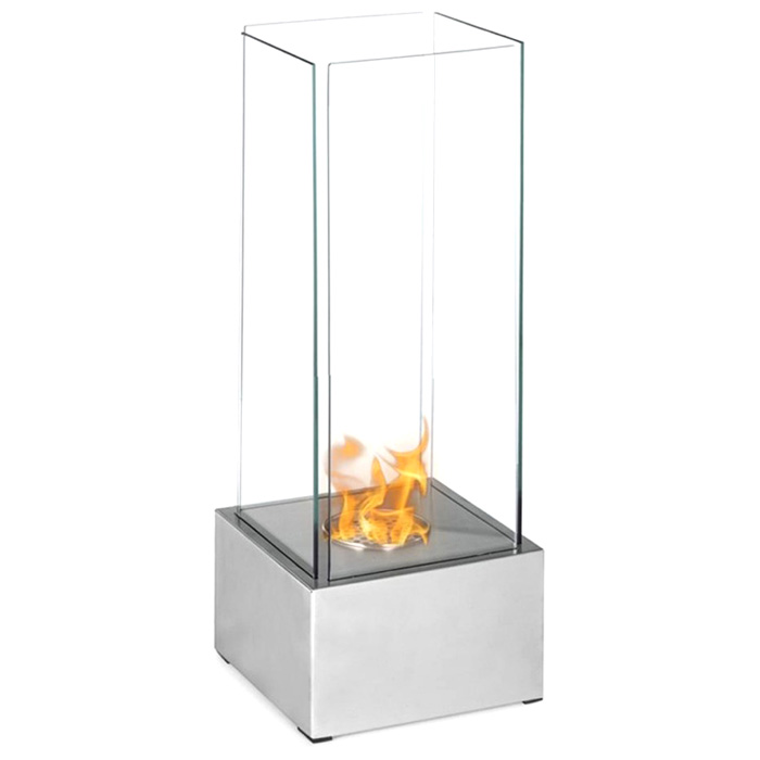 Carballo Table Top Ethanol Fireplace - Glass, Stainless Steel - MODA-GF203900