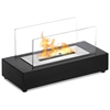 Rubi Table Top Ethanol Fireplace - Tempered Glass, Black Base - MODA-GF301700