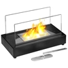 Vigo Table Top Ethanol Fireplace - Tempered Glass, Black - MODA-GF301801
