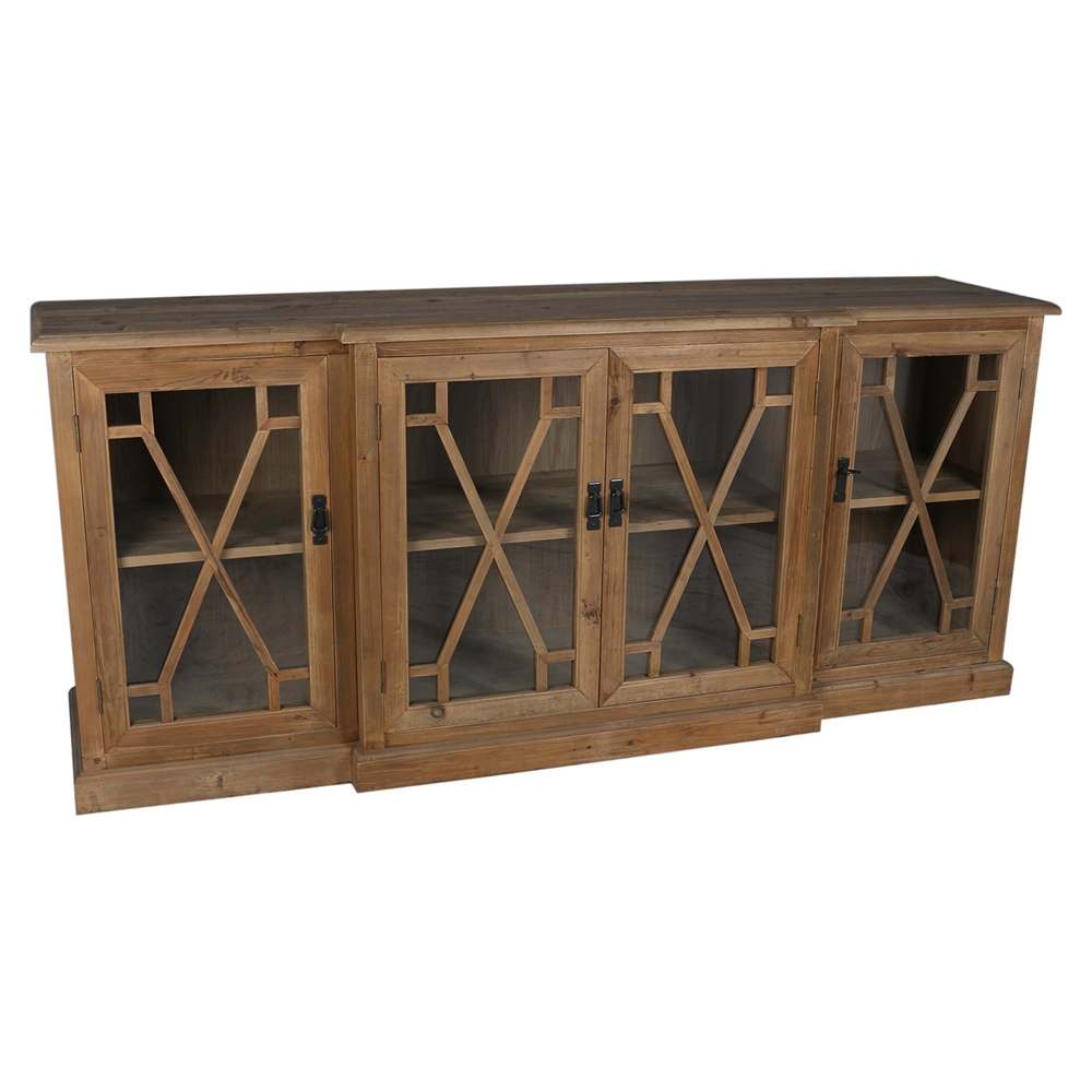 Capulet 4 doors sideboard natural dcg stores for Sideboard natur