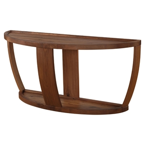 Dylan Console Table - Lower Shelf, Rustic Walnut
