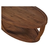 Dylan Oval Coffee Table - Lower Shelf, Rustic Walnut - MOES-BC-1012-20