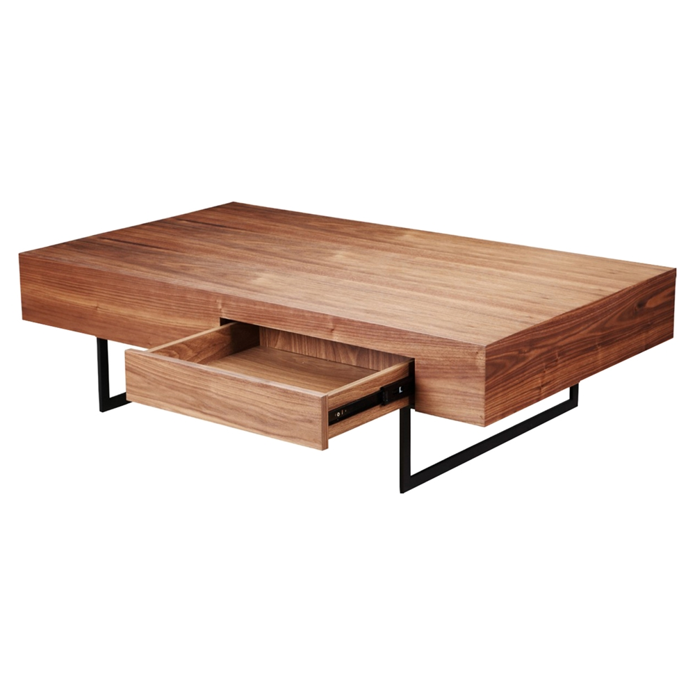 Cameron Coffee Table: Cameron Coffee Table - 1 Drawer, Walnut