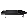 Ainsley Coffee Table - 1 Drawer, Flip Tray, Black - MOES-BE-1022-02