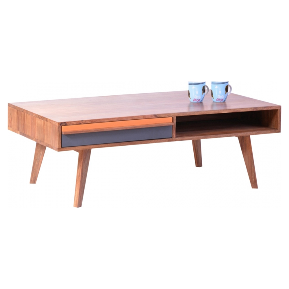 Bliss Coffee Table 1 Drawer Natural Dcg Stores