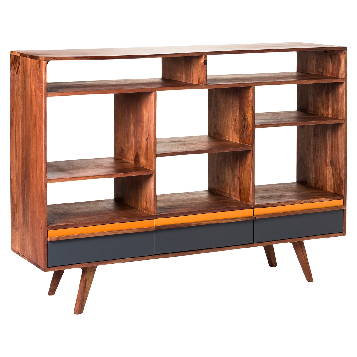 Bliss Open Bookshelf - 3 Drawers, Natural - MOES-BZ-1006-24