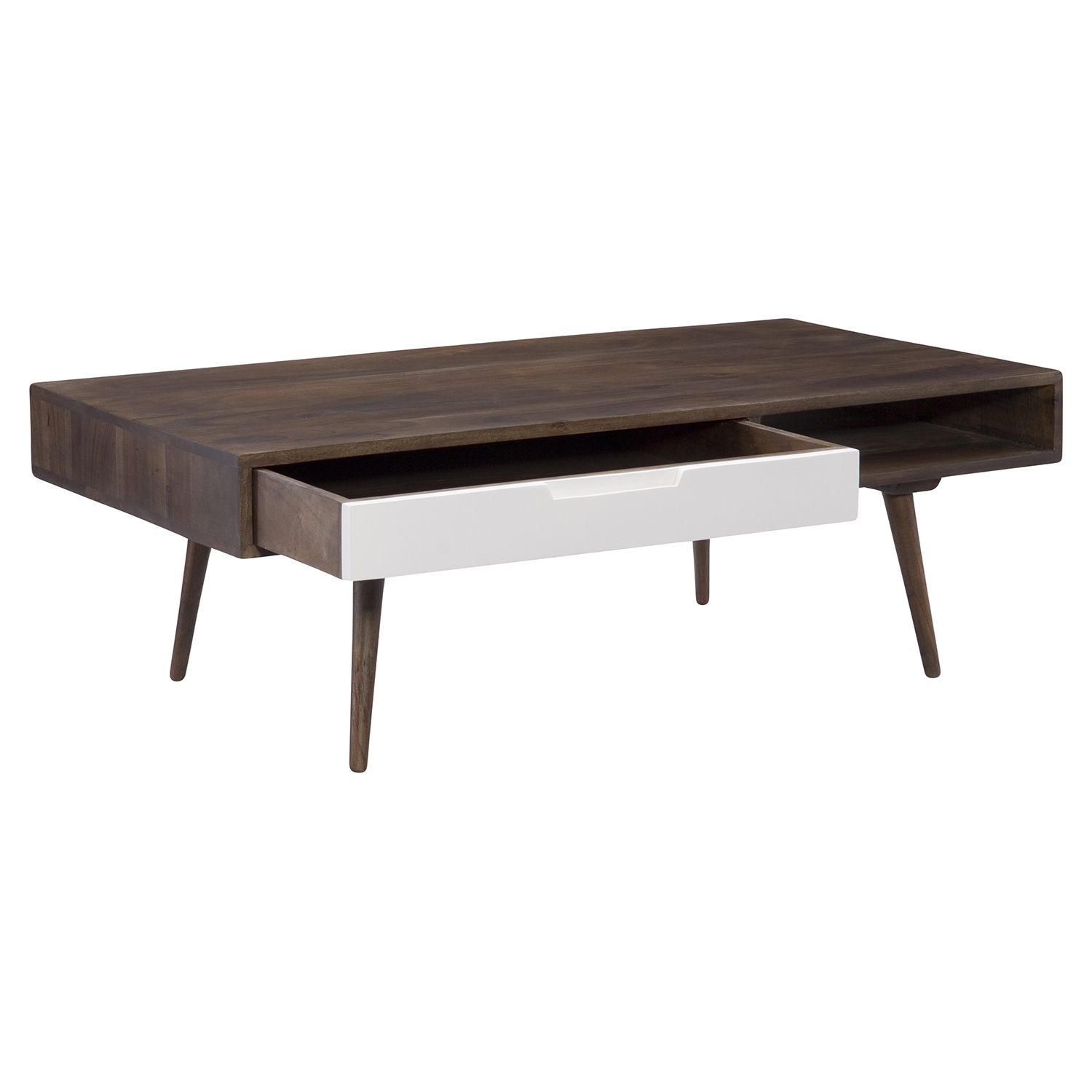 Blossom Coffee Table - 1 Drawer, Brown - MOES-BZ-1008-20
