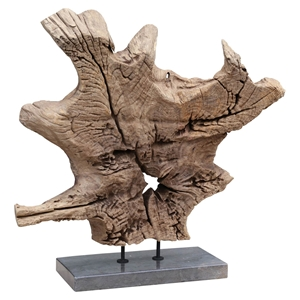 Dax Sculpture - Natural Teak