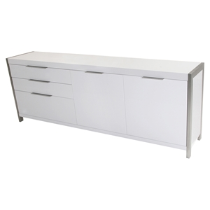 Neo Sideboard - 3 Drawers, 2 Cupboard Doors, White