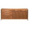 Neo Sideboard - 3 Drawers, 2 Cupboard Doors, Walnut - MOES-ER-1118-21