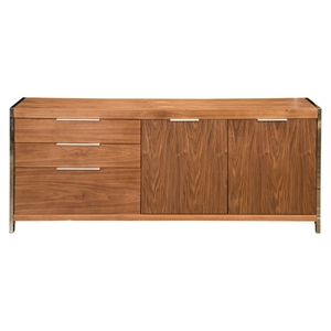 Neo Sideboard - 3 Drawers, 2 Cupboard Doors, Walnut