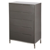 Naples Chest - 5 Drawers, Gray - MOES-ER-1198-29
