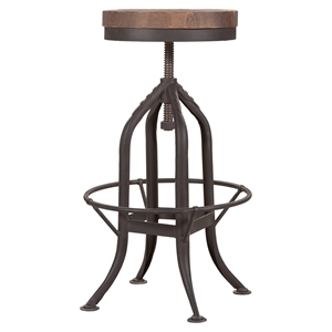 Brut Backless Barstool - Adjustable Height