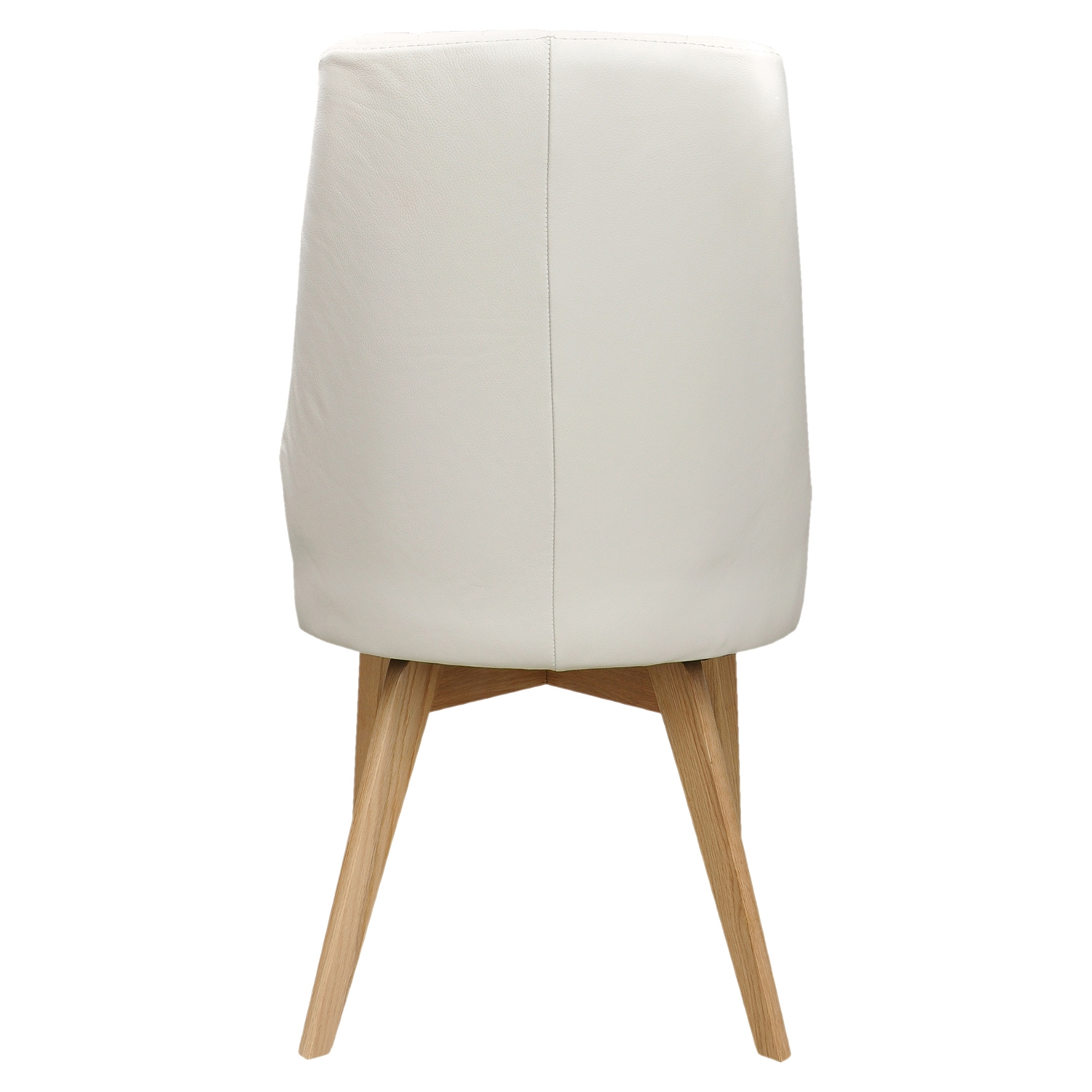 Nadine Leather Side Chair - White (Set of 2) - MOES-GO-1001-18