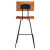 Axel Armless Barstool - Brown (Set of 2) - MOES-HX-1005-03