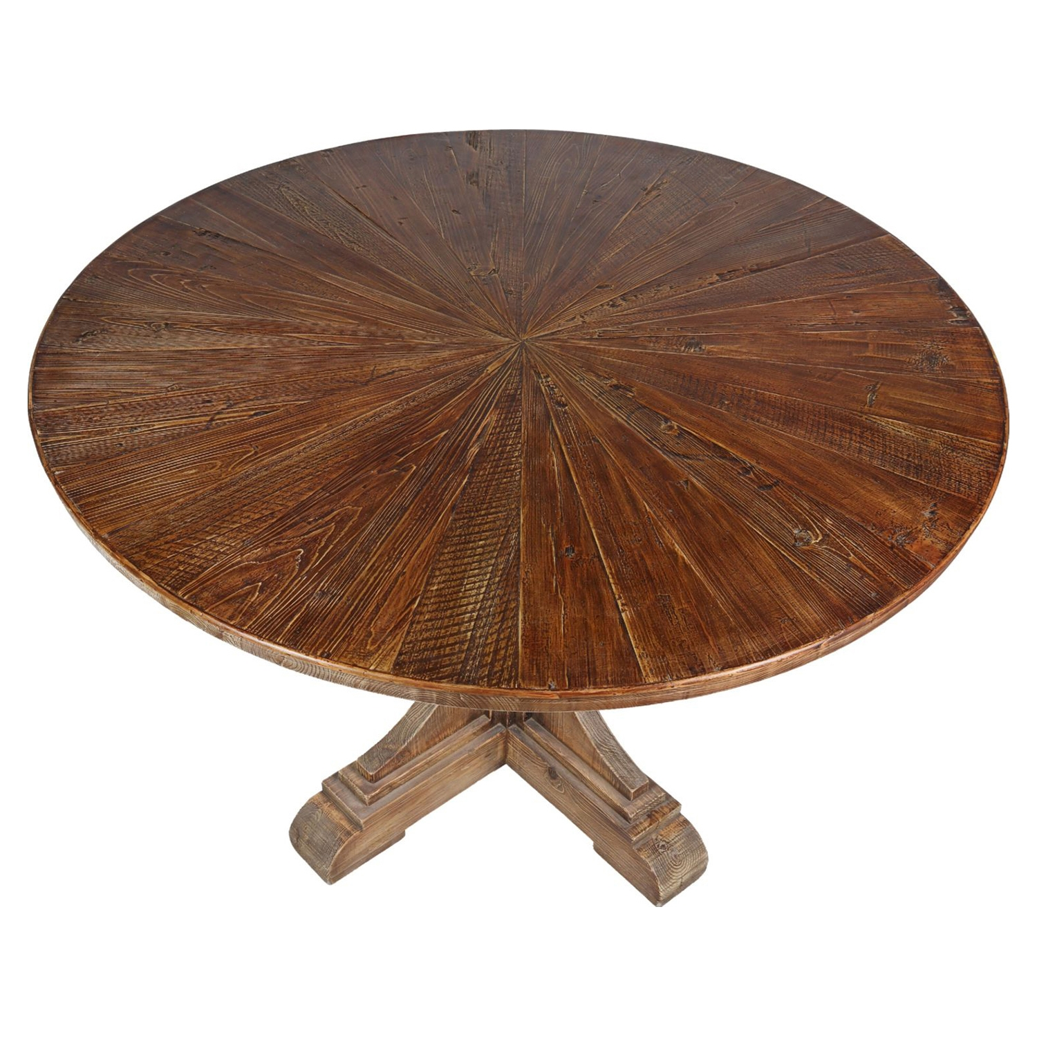 Calistoga Dining Table - Brown, Pedestal Base - MOES-KJ-1008-03