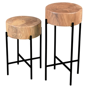 Bruno 2 Pieces Accent Tables - Natural