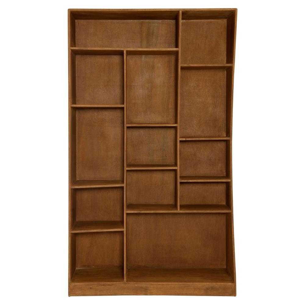 Niagara Left Cube Bookcase Light Brown Dcg Stores