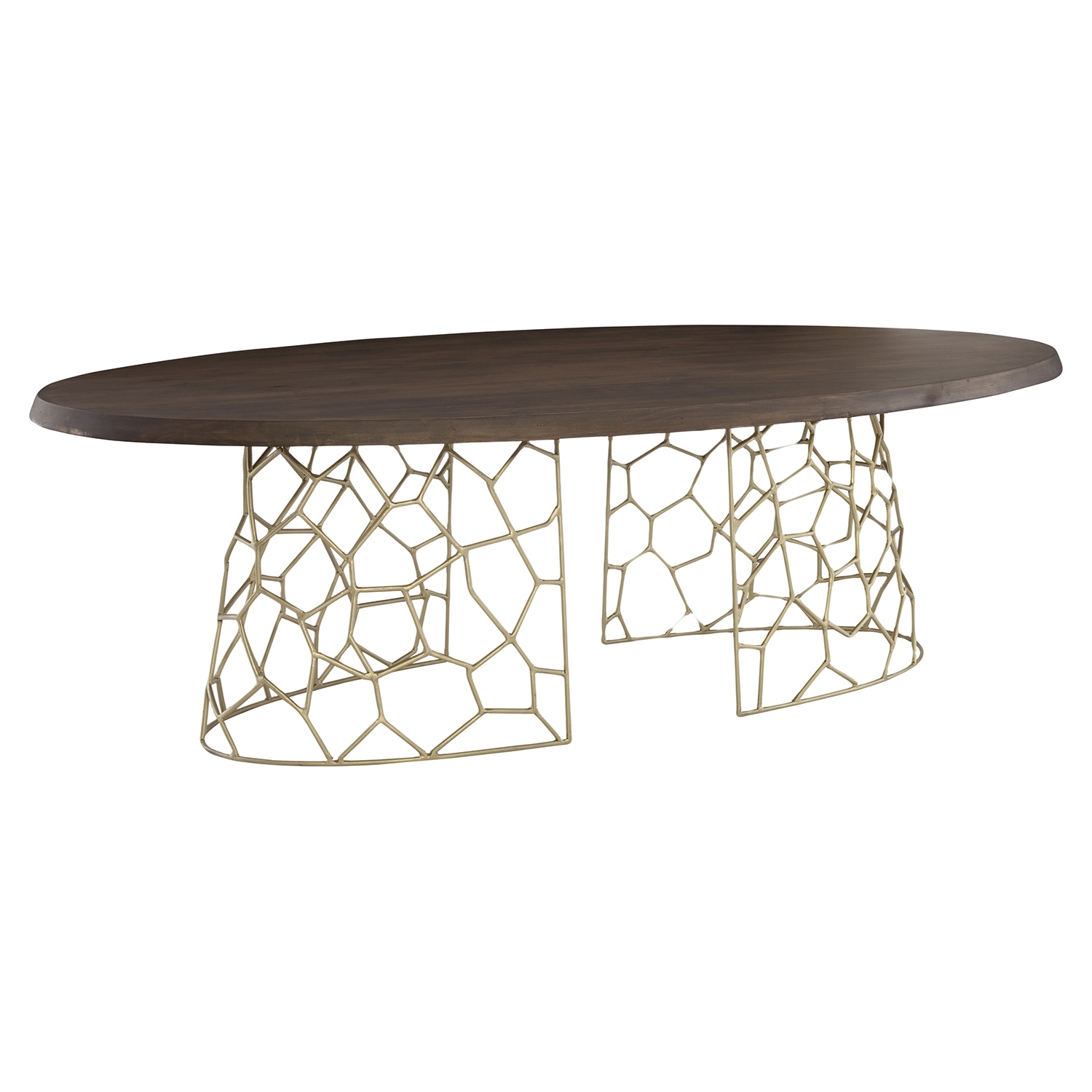 Ario Oval Dining Table - Brown - MOES-LX-1045-03