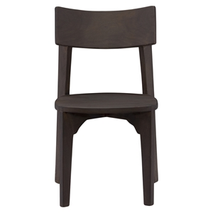 Ario Wood Dining Chair - Dark Brown