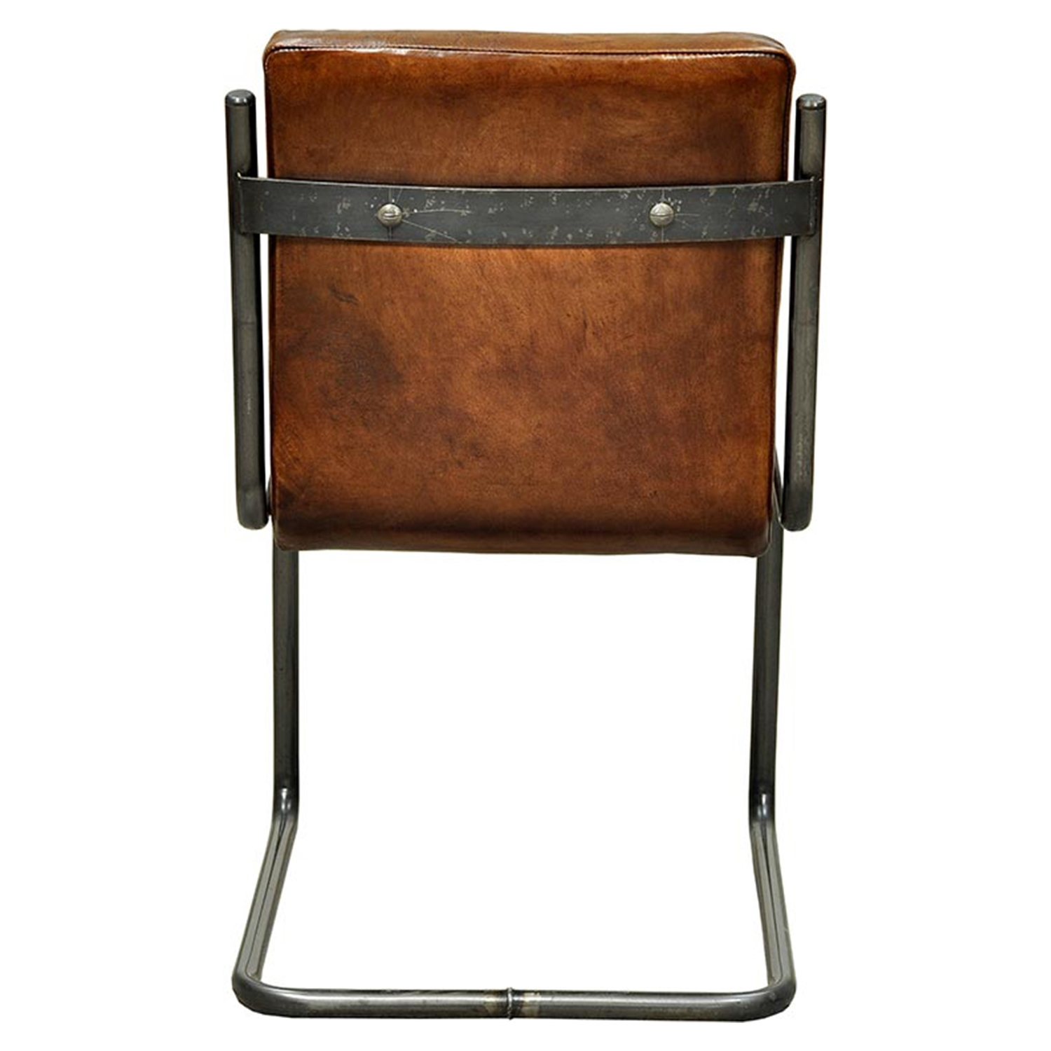 Carl Leather Side Chair - Dark Brown (Set of 2) - MOES-PD-1006-20