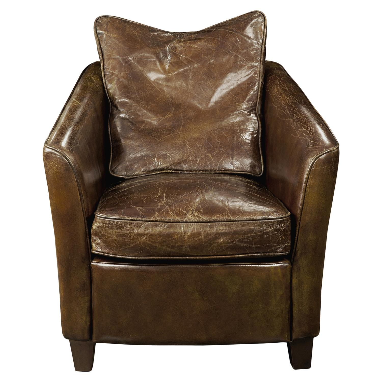 Charlston Club Chair - Dark Brown : DCG Stores