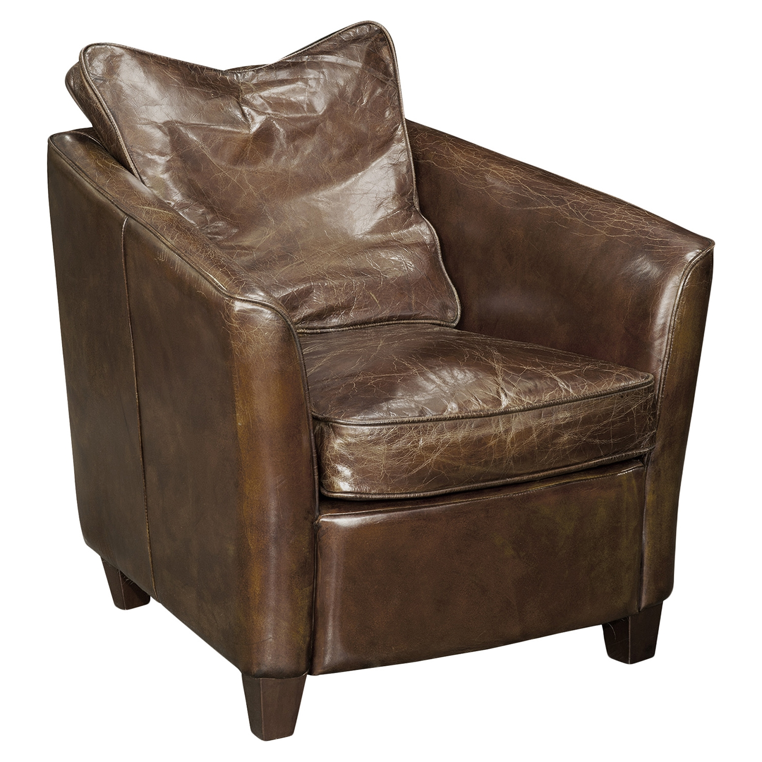 Charlston Club Chair - Dark Brown - MOES-PK-1001-20