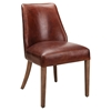 Fiona Leather Dining Chair - Brown (Set of 2) - MOES-PK-1065-20