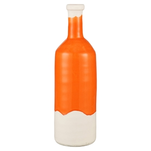 Bottle Short Vase - Orange