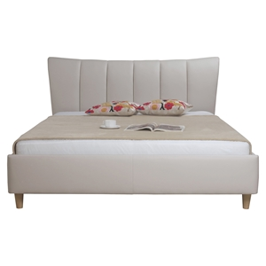 Kiley Platform Bed - Taupe