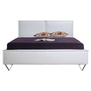 Ava Faux Leather King Bed - White
