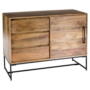 Colvin 3 Drawers Sideboard - Door, Natural