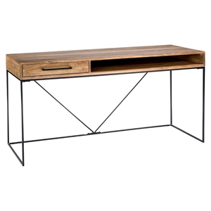 Colvin Office Desk - 1 Drawer, Natural