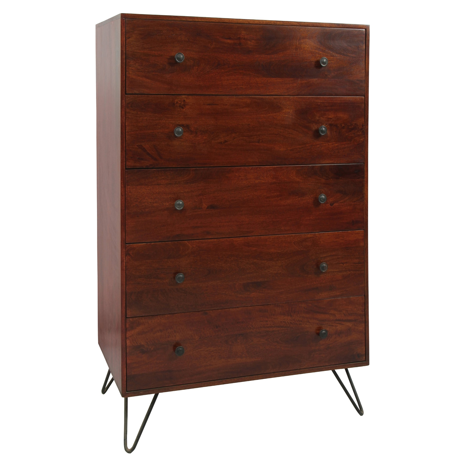 Bronson 5 Drawers Chest - Brown - MOES-SR-1039-03