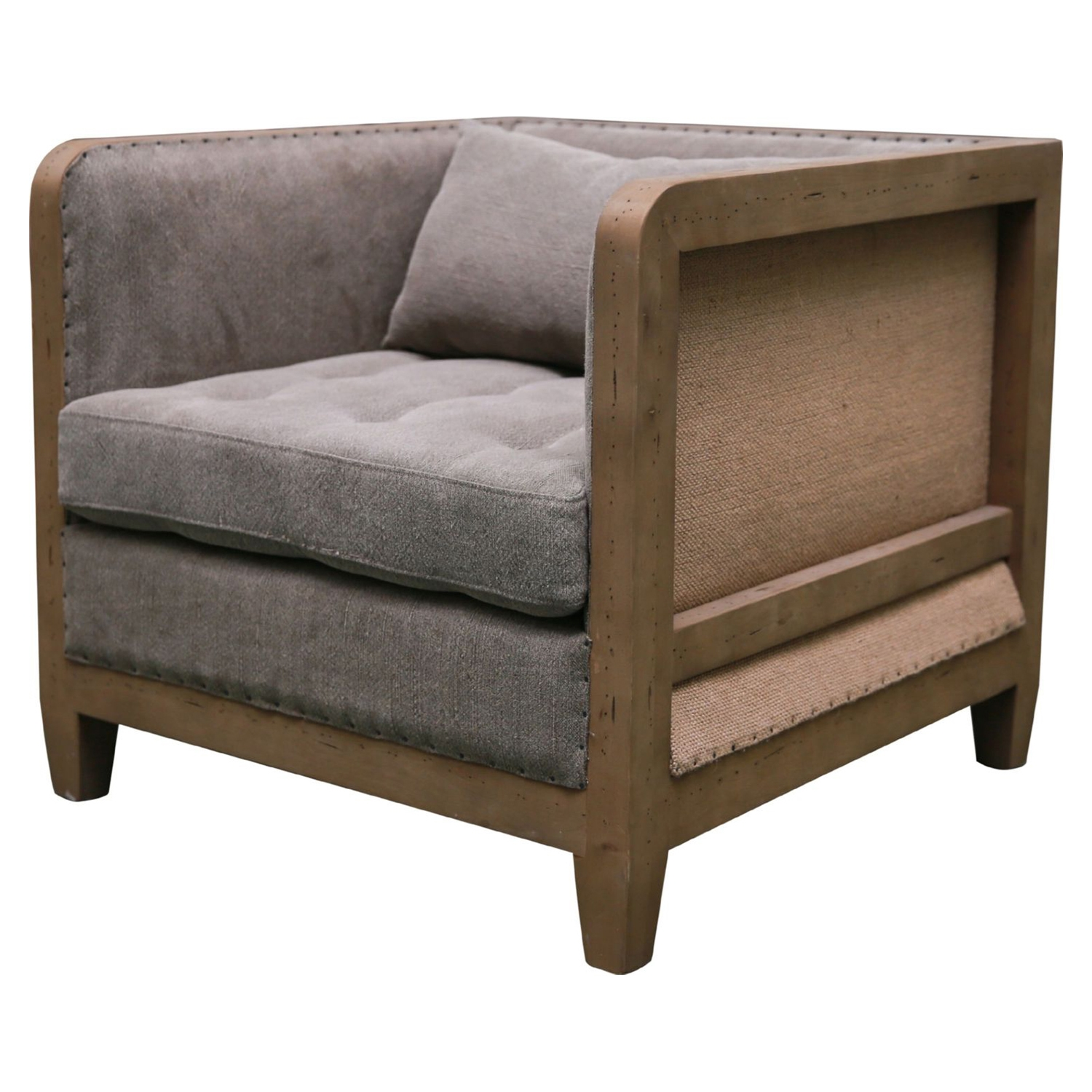 Cosette Club Chair - Tufted, Gray - MOES-SX-1016-25