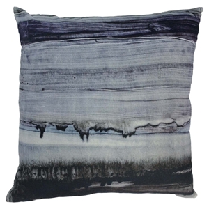 Parallel Lines Velvet Cushion - Feather Insert