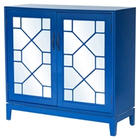 Indochine Low Cabinet - Doors, Blue