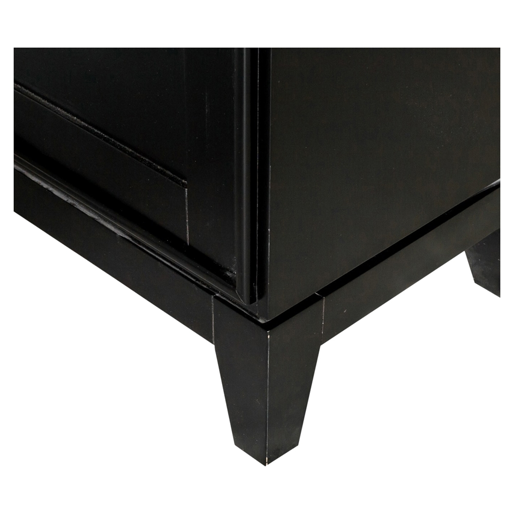 Indochine tall cabinet doors black dcg stores for Black cabinet with doors