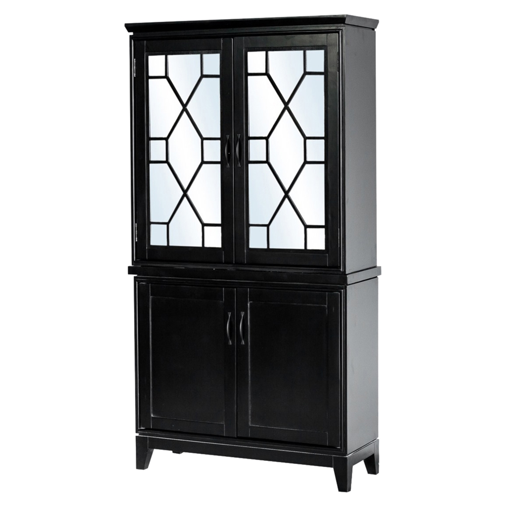 Indochine Tall Cabinet Doors Black Dcg Stores