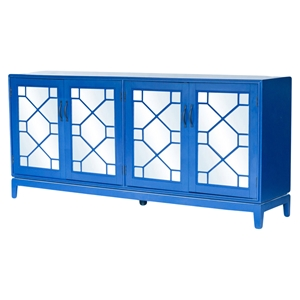 Indochine Long Cabinet - Doors, Blue