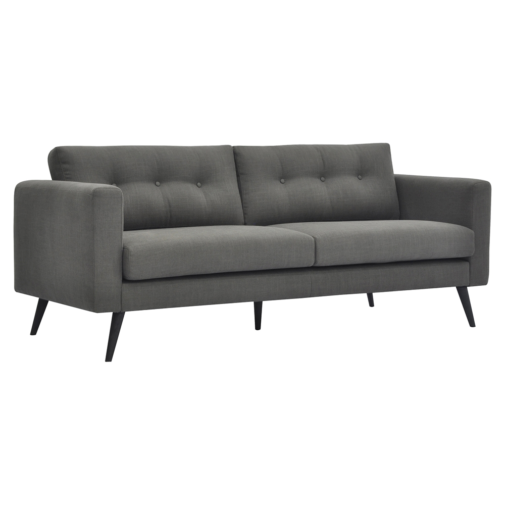 Cortado Upholstery Sofa Button Tufted Gray Dcg Stores