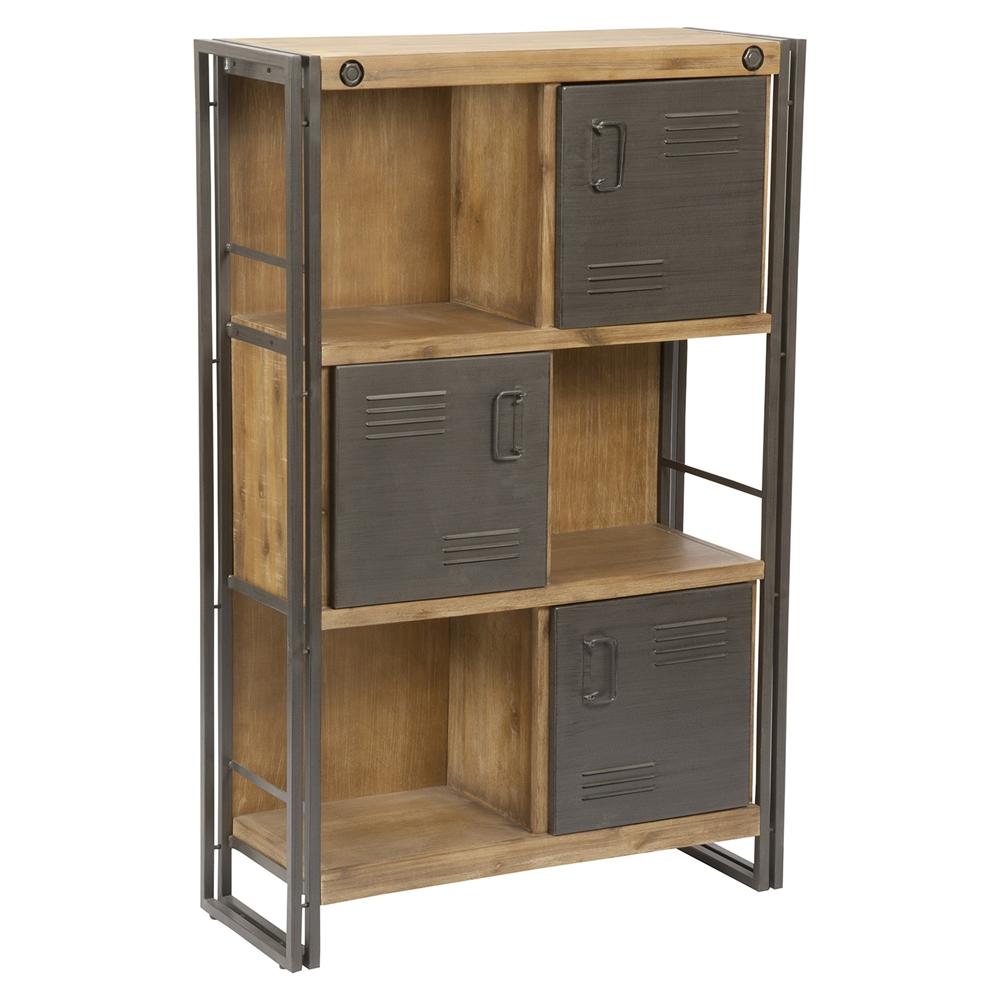 Brooklyn Large Shelf 3 Doors Dark Brown Dcg Stores