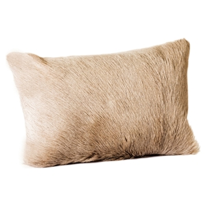 Goat Fur Bolster - Dark Gray