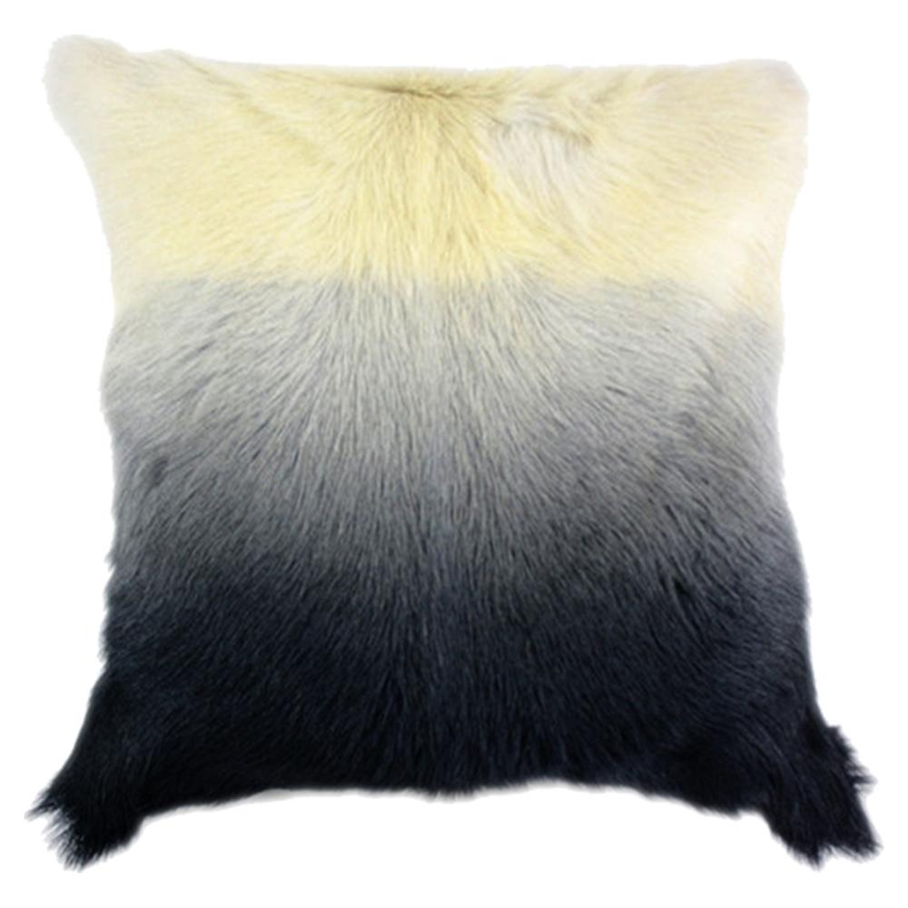 Goat Fur Pillow Light Gray Spectrum Dcg Stores