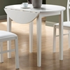 Purity 3 Piece Dinette Set - Round Table Top, White - MNRH-I-1008