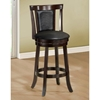 Humility Swivel Bar Stool - Cappuccino Finish (Set of 2) - MNRH-I-1287