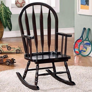 Benevolence Rocking Chair for Kids - Arrow Back, Cappuccino