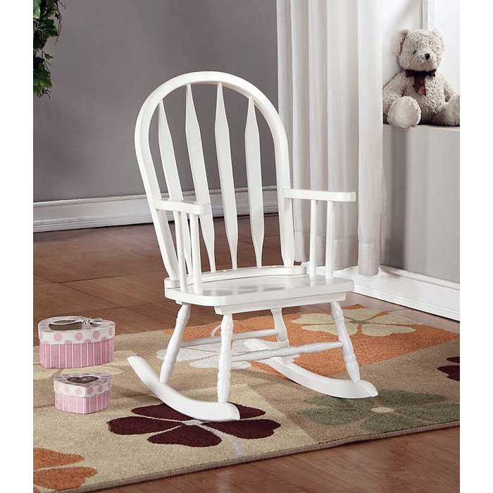 Benevolence Rocking Chair For Kids Arrow Back White